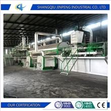 20-40tons waste tire pyrolysis machine fully continuous running