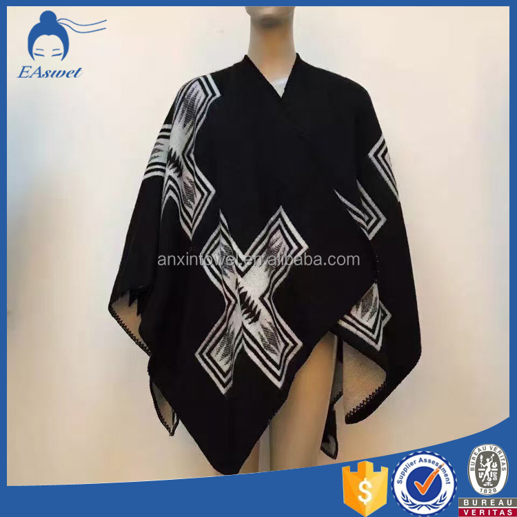 2016 latest design new model jacquard woven cotton blanket scarf shawl