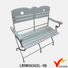 alibaba french garden decoration metal and wood folding chair from china