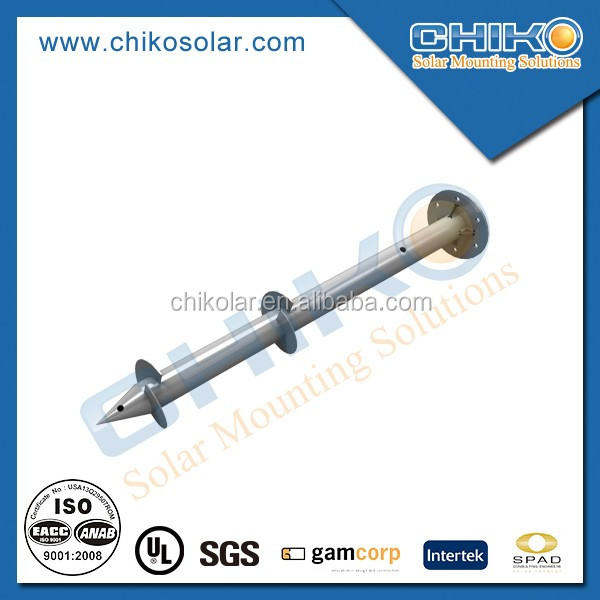 Solar Mounting Brackets Ground Aluminum Screw