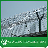 kinds of security y type steel fence Chain link mesh airport fence