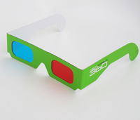 2014 new arrival hot selling custom printing paper red cyan 3d glasses