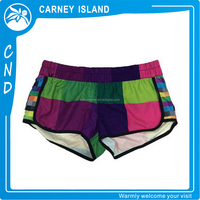 fancy colorful romantic women lycra sexy beach shorts