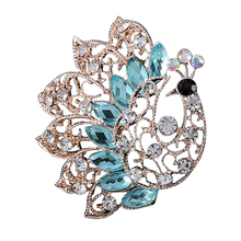 Custom new products crystal flower brooch / brooches crystal wedding jewelry