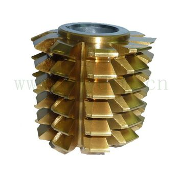 HSS TIN Coated DIN3968 Module/DP Involute Gear Hob with TUV CE
