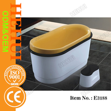AD-6641 6 person jacuzzy solid surface bath tub and white color marble bathtub