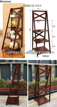 Magazine rack bookshelf