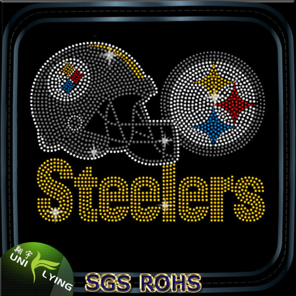 Steelers hot fix rhinestone transfers