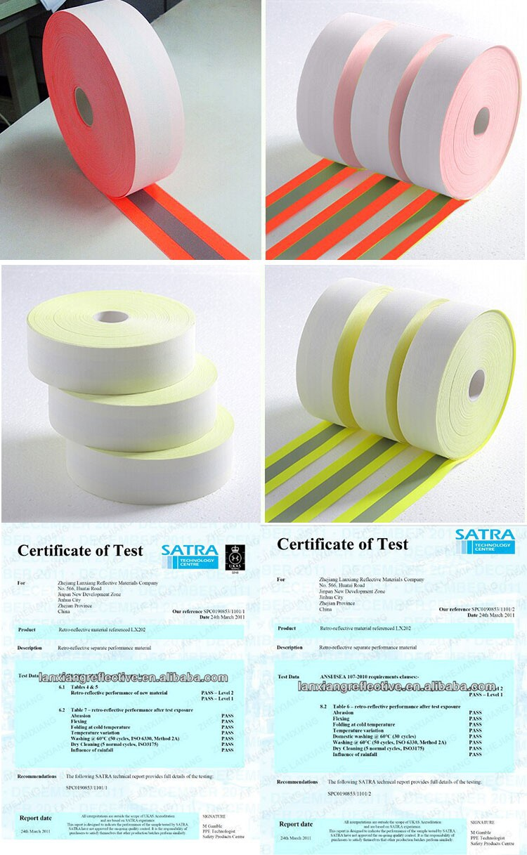 Warning tape 65% Polyester 35% Cotton Retro Infrared Reflective Tape