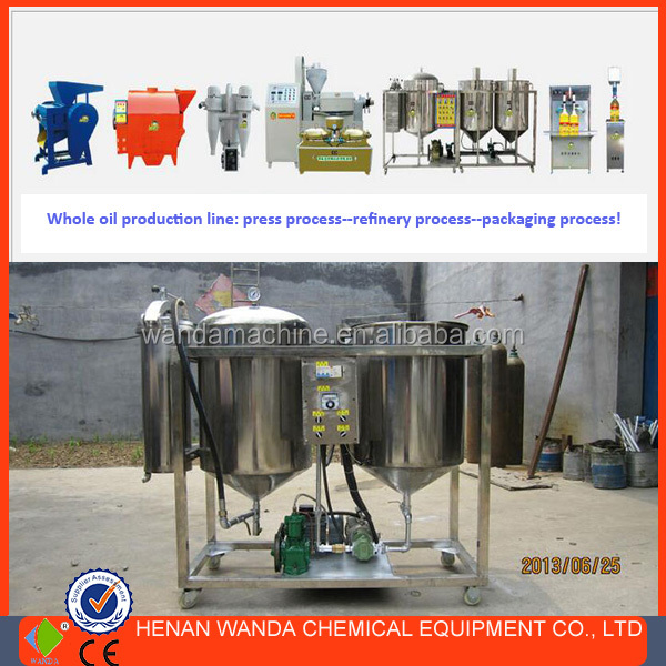 100KG MINI EDIBLE OIL REFINERY PRODUCTION PLANT FOR SMALL SCALE WORKSHOP
