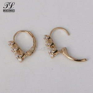 High quality zirconia gold silver available 3 gram gold beautiful designed earrings