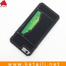 high quality universal genuine leather card case and phone cover