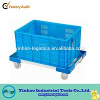 wholesale alloy plastic aluminum dolley with four wheels made in china