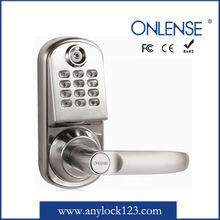 Electronic round security lock key with password keypad