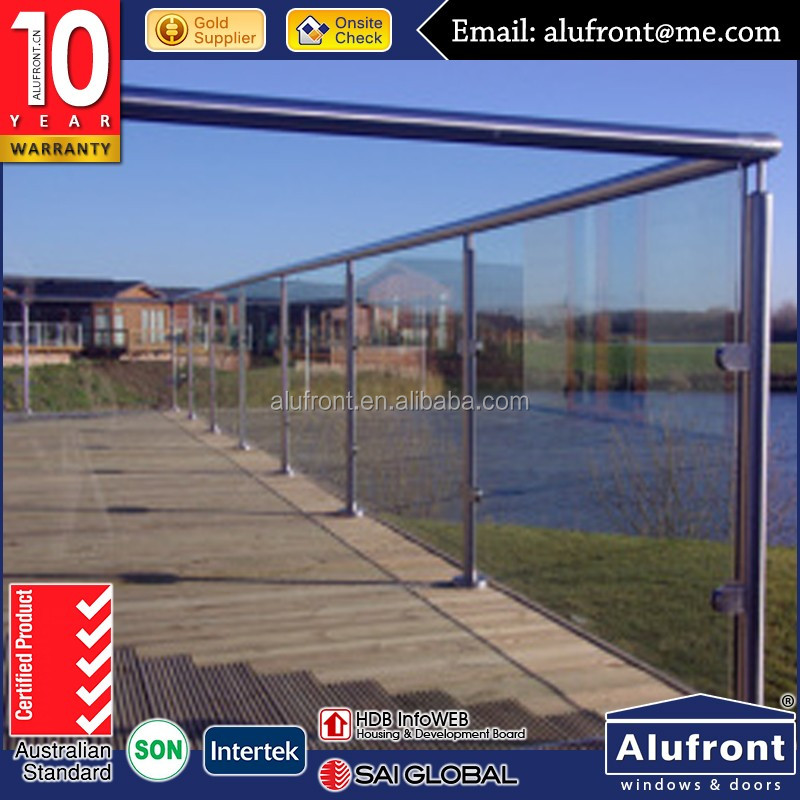 Australia AS2047 standard glass balustrade tempered glass porch fencing