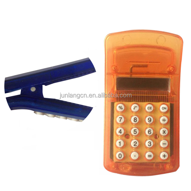 Hot Selling Cheap Price Clip Calculator Promotion Calculator with magnet at back