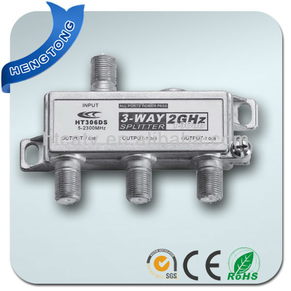 3 Way CATV Power Pass Splitter