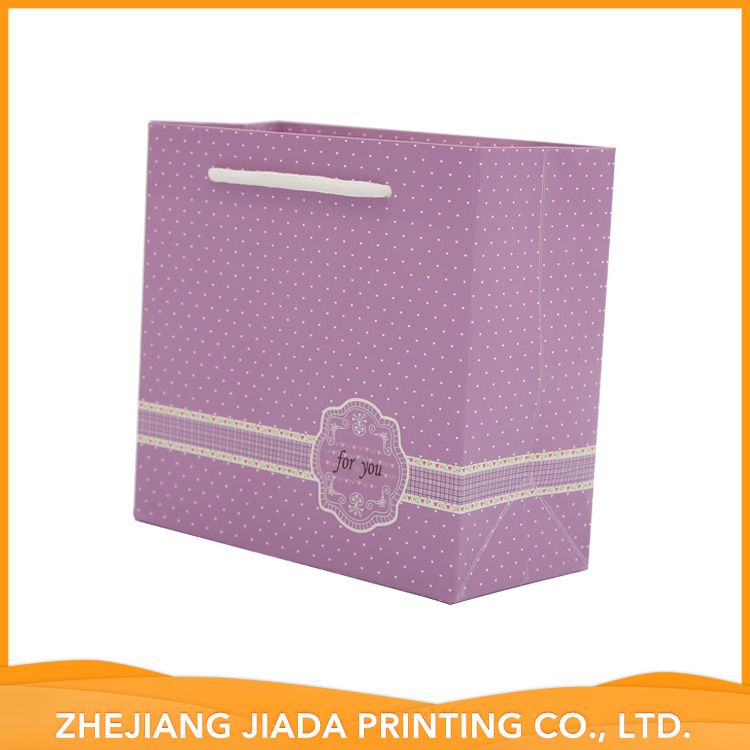 Accept Custom Factory Supply Attractive Price Matte Coated Paper Bags