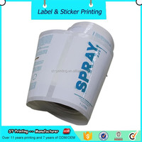 customized white bopp labels roll sticker,private tearproof label peel off roll