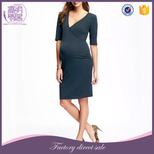 Newest Women Clothes Cross-Front Sexy Maternity Evening Dresses