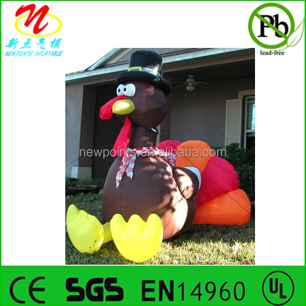 Inflatable turkey for Thanksgiving decorations
