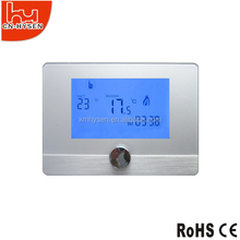 Touch screen boiler heating thermostat with weekly programmable