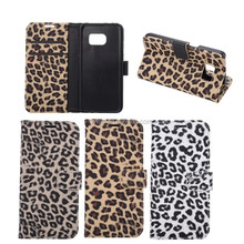 Cover case For Galaxy S7 ,High Quality PU Leopard Pattern wallet Case Cover