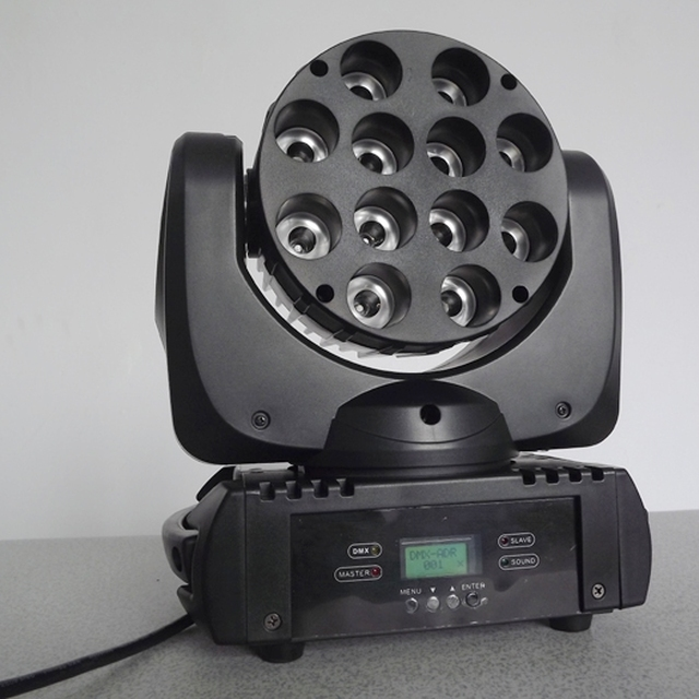 NEW PRODUCT!Aladdin RGBW 4in1 12pcs led CREE beam moving head stage light,HOT SALES!