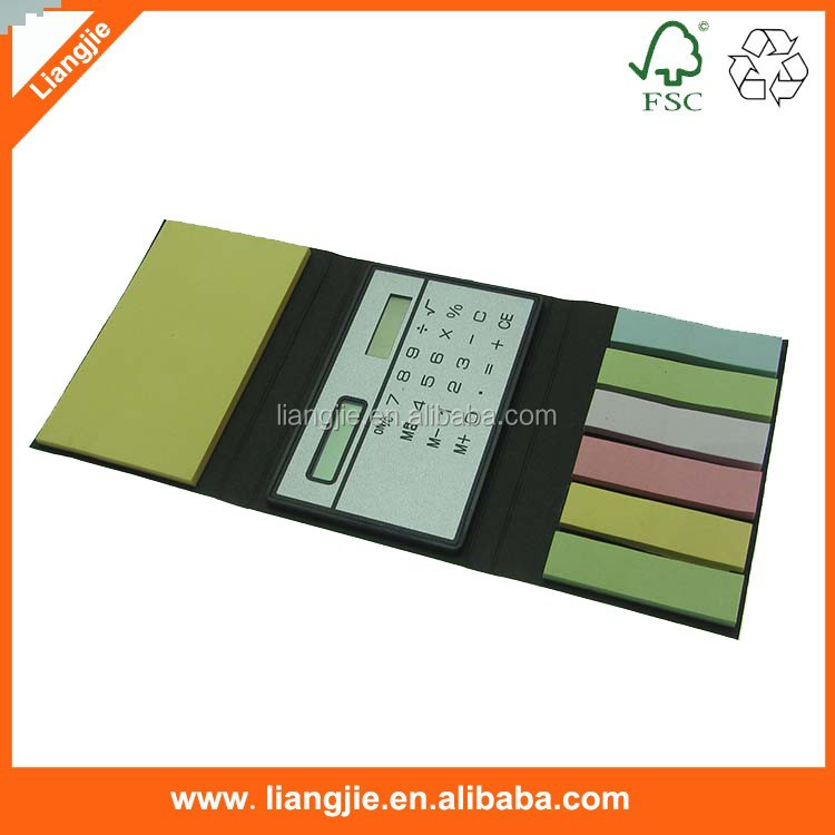 Mini caculator sticky notepad , Calculator with self-adhesive pad