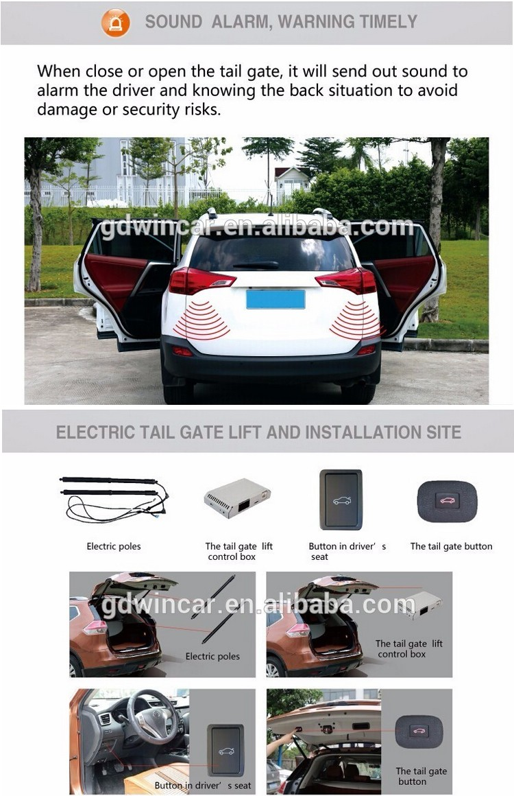 Vehicle Power Operated Tailgate Lift For Hyundai IX45