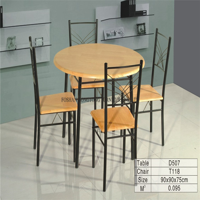 Modern popular simple style circular dining furniture kitchen table wholesale