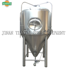Glycol jacketed conical fermenter with insulation
