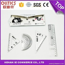hot sale 18cm plastic scale ruler with handle