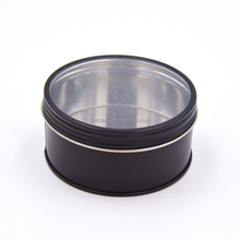 round samll tin box,package metal box,metal tins with clear window