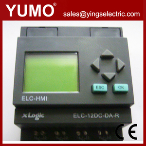 China supplier ELC-12DC-DA-R-HMI 4digital analog input 4relay output plc programmable logic controller