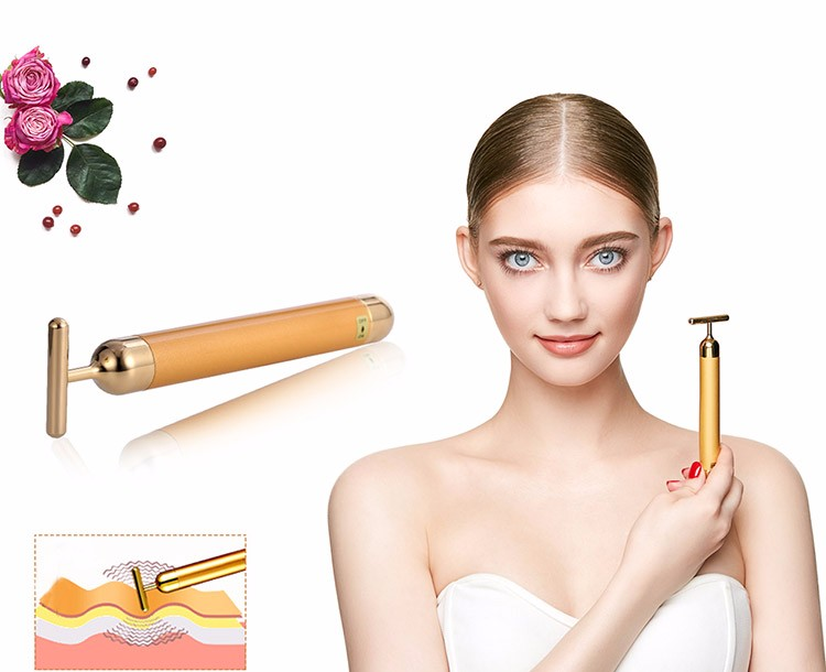 Kakusan 24K Gold Deeply Cleaning Facial Beauty Massager