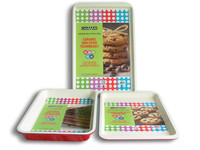 3pc Ceramic coating cookie sheet,RB--027