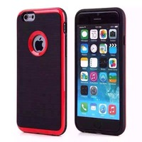 Hybrid Bumper TPU Soft Rubber Back Case Cover silicone case for iphone 6/6s case