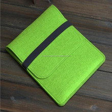 High quality oem soft felt green case for macbook air 11.6