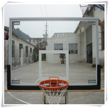 Wholesale Transparent Basketball backboard Tempered Glass Basketball Backboard with ring and net