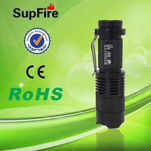 China Supfire S3 Multi-function rechargeable mini uv torch machine