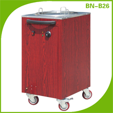 (BN-C26-1) Cosbao dish warming Dispenser stainless trolley/hotel trolley/trolley cart