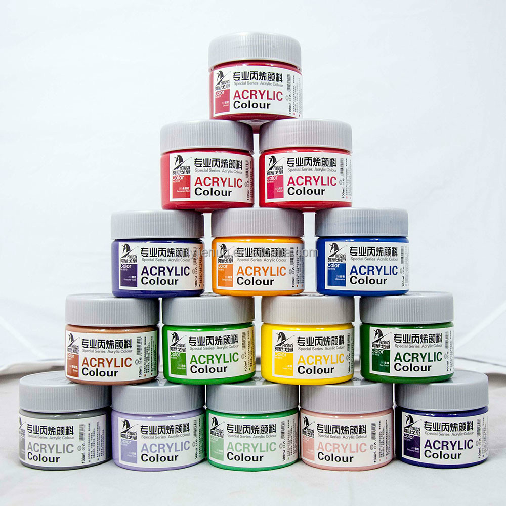 Cheap best-selling craft smart Non-toxic art Acrylic Paint 100 ml per pot/acrylic paint manufactureres