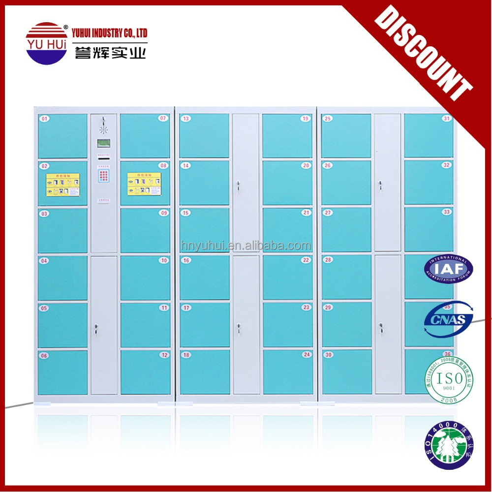 36 doors barcode lock metal electronic system storage locker cabinet with PIN code