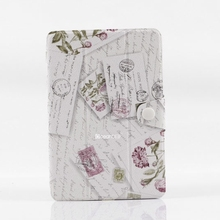 flower pattern pu leather cover for ipad mini flip leather case for ipad mini