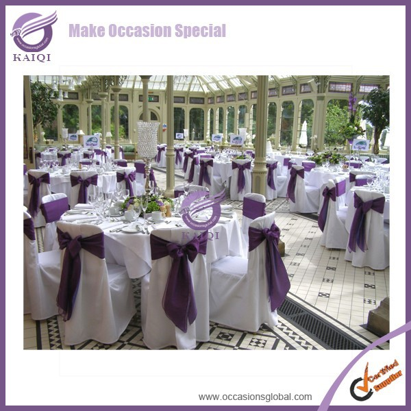 K3959 fancy sash hood decorated wedding party cheap spandex chair cover