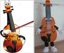 China manufacture professtional musical instrument violin custom mascot costumes
