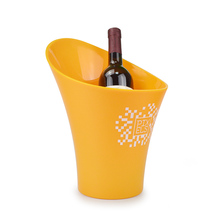 High grade customized brand beverage plastic red wine vodka ice bucket