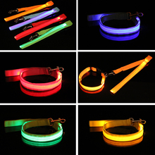 Durable Comfortable Nylon Lead Led Flashing Pet Cat dog Leash