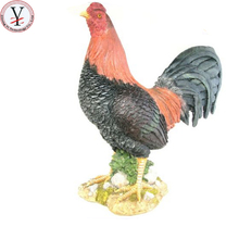 Factory Custom made best home decoration gift polyresin resin red rooster